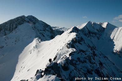 Dragus north ridge in fagaras mountains