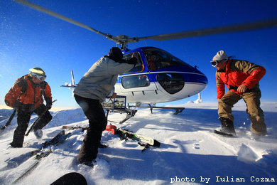 Heliski in Fagaras mountains