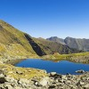 Caltun lake in fagaras mountains