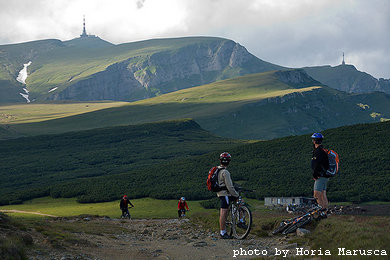 Mountainbiken in Bucegi Gebirge