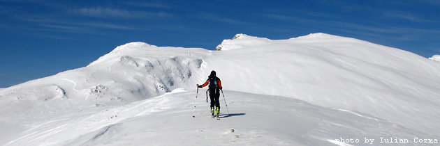 Ski tour in Bucegi mountains