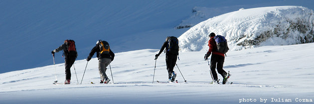 Ski tour in Fagaras mountains
