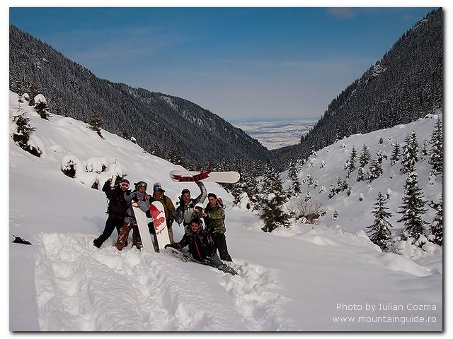 Snowboarding in Romania