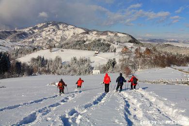 Snowshoeing in satul Poarta
