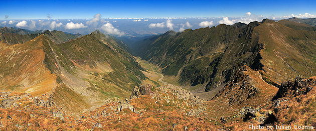 Valea Vistea Mare din Muntii Fagaras