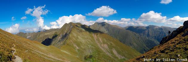 Moldoveanu peak in Fagaras mountains