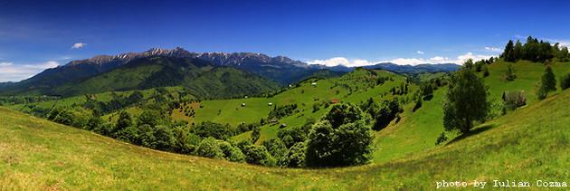Hills around Bucegi mountains