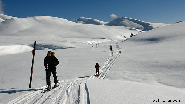 Ski touring in Bucegi mountains, February 2010
