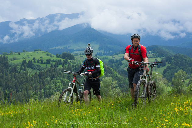 Mountain biking on Bran Country trails, Transylvania, Romania