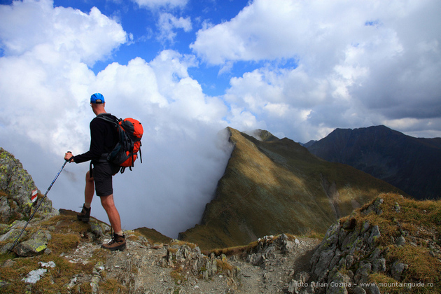 Dutch hikers in Romania, hiking in Fagaras mountains