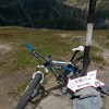 Mountain biking Romania, Bucegi Circuit with an old Cannondale Fatty bike
