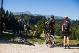 Mountain biking in Brasov city area and Bucegi mountains