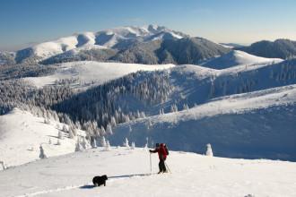 Ski touring in Ciucas mountains