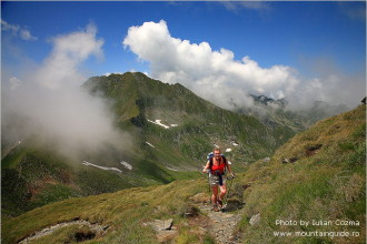 Climbing Moldoveanu peak, the highest peak in Romania