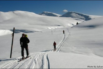Ski touring in Bucegi mountains