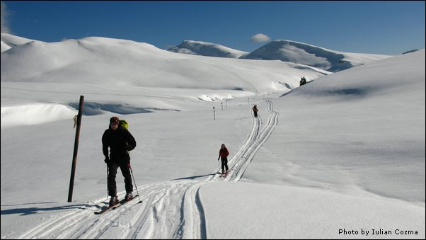 Ski touring in Bucegi mountains